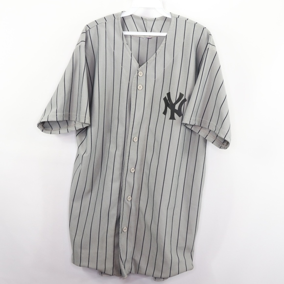 new product 11eb2 6f6d7 90s Mens XL New York Yankees Baseball Jersey Gray